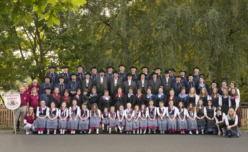 Gruppenbild Volkstanzgruppe Eschenbach